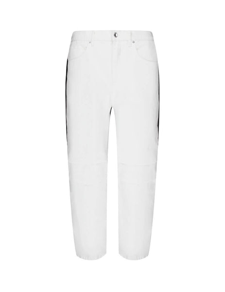 alexanderwang Women's Giulio Fashion White Pack Mix Hybrid Cargo Jeans 4DC2204791 100
