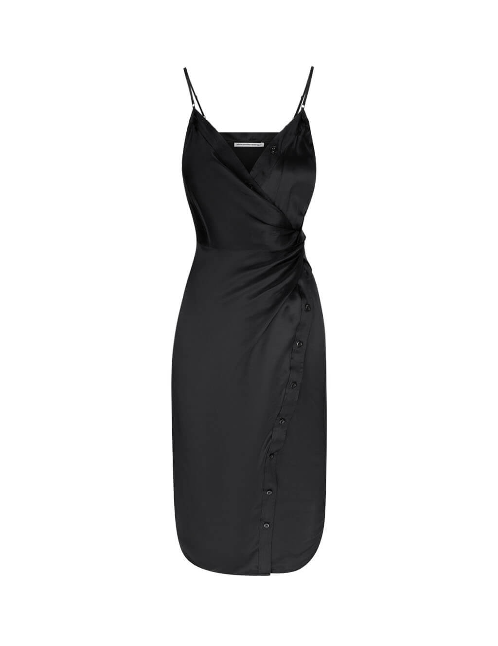 alexanderwang.t Women's Giulio Fashion Black Cami Twist Midi Dress 4WC2206083 001