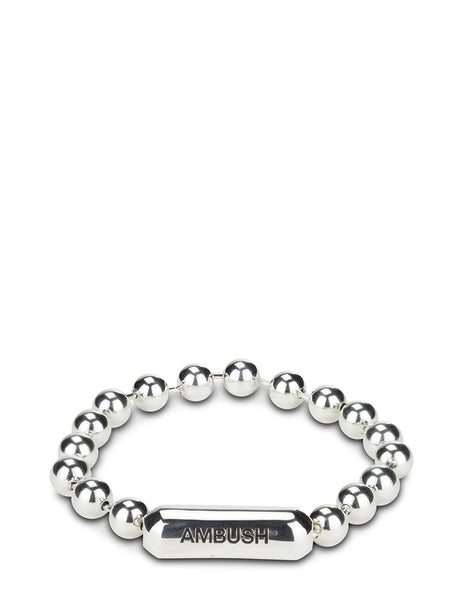 AMBUSH Men's Silver Ball Chain Bracelet BMOA011S21MET0017200