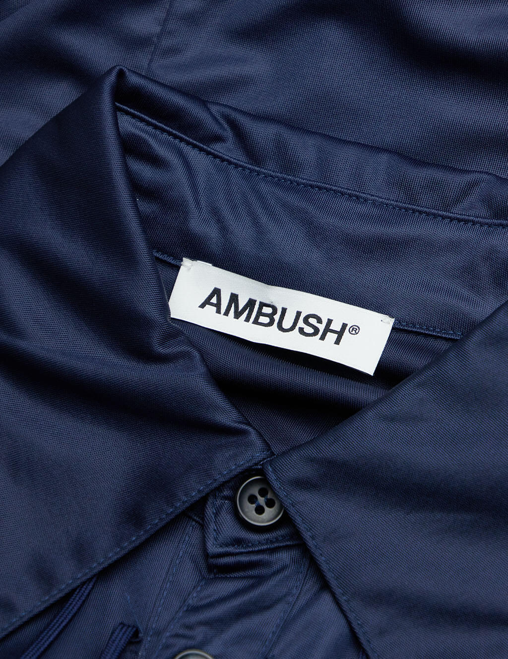 AMBUSH Women's Navy Fitted Shirt BMGA021F20FAB0014600