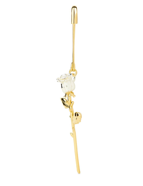 Women's AMBUSH Single Rose Charm Earring in Gold - BWOD010S21MET0027600