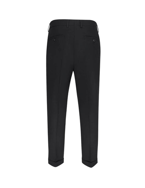 Men's Black AMI Carrot-Fit Trousers E20HT402.246 001