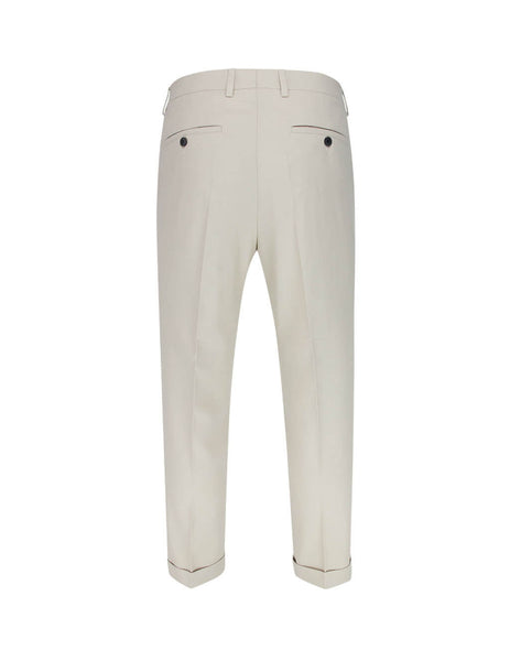 Men's Beige-Clay AMI Carrot-Fit Trousers E20HT402.246 263