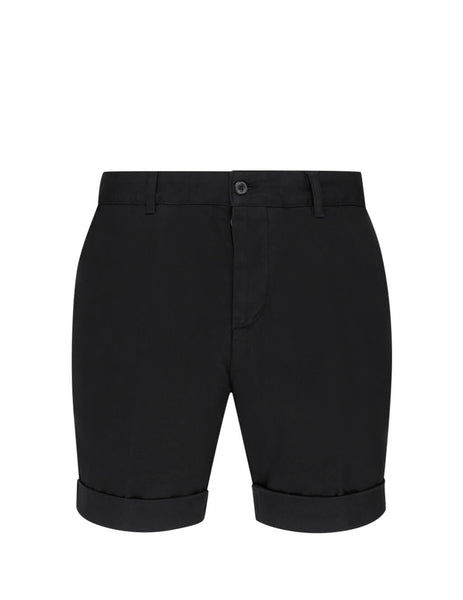 Men's Black AMI Chino Shorts E20HT710.248 001