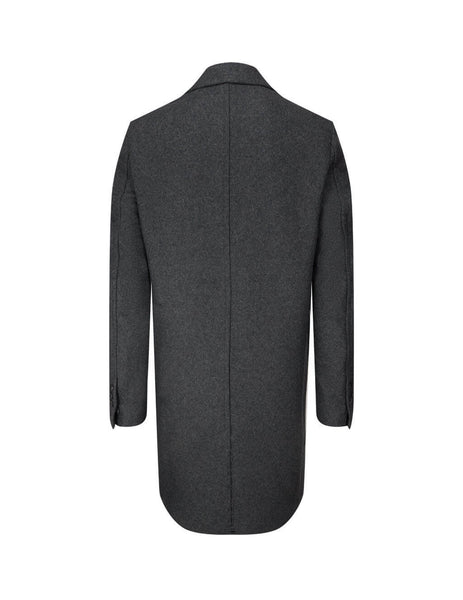 mens ami two button coat in dark grey H20HM001-224061