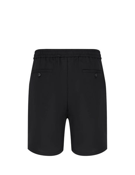 Men's Blac AMI Elasticated Waist Bermuda Shorts E20HT300.246 001