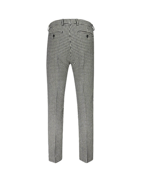 AMI Men's Giulio Fashion Off White/Black Houndstooth Trousers H19T004241151