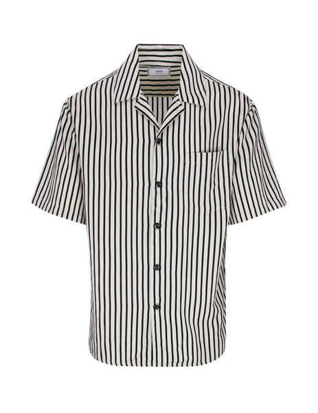 Men's Off White & Black AMI Striped Shirt E20HC201.421 151