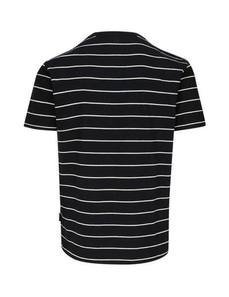 Men's Black & White AMI Striped T-Shirt E20HJ170.704 012
