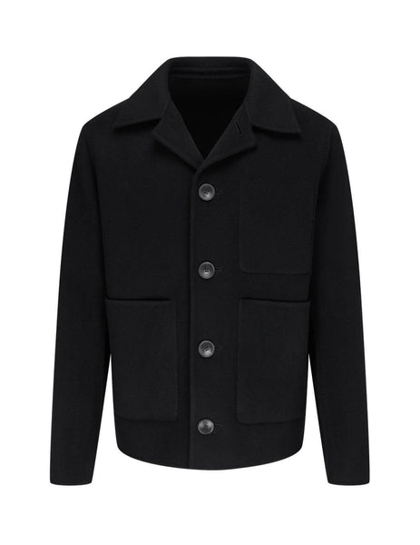 Men's AMI Unstructured Jacket in Black - H20HM007251 001