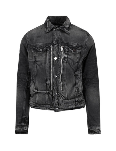 AMIRI Men's Giulio Fashion Antique Black MX2 Trucker Jacket S0M04115RDABK