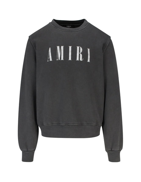 AMIRI Men's Giulio Fashion Grey Core Crewneck W9M02348TEVBW