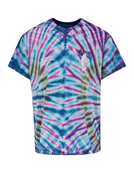 Men's Blue AMIRI Tie Dye Dove T-Shirt Y0M03453CJMUL