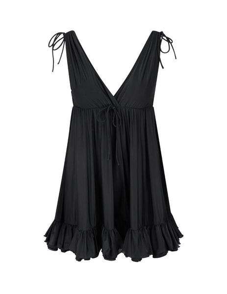 Balenciaga Women's Black Babydoll Top 626490TAV541000