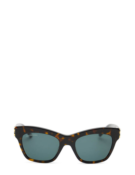 Women's Balenciaga BB0132S Butterfly Sunglasses in Havana/Green - BB0132S-002