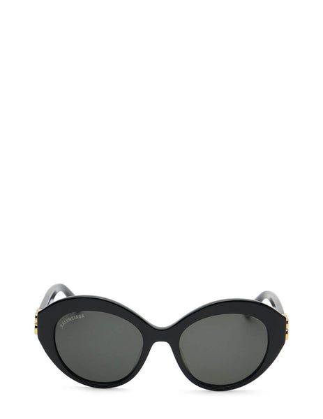 Women's Balenciaga BB0133S Oval Sunglasses in Black/Grey - BB0133S-001