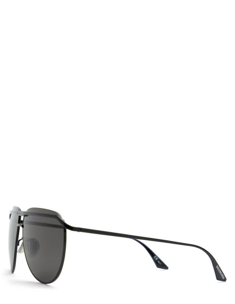 Unisex Balenciaga BB0140S Aviator Sunglasses in Black - BB0140S-001