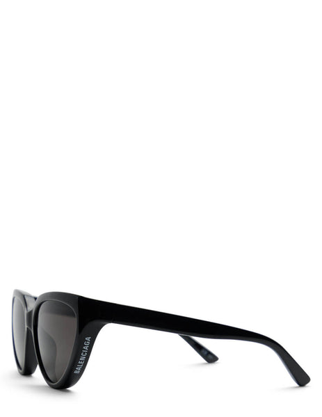 Women's Balenciaga BB0149S Cat-Eye Sunglasses in Black/Grey - BB0149S-001