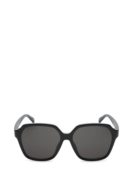 Women's Balenciaga BB0153SA Oversized Square Sunglasses in Black/Grey - BB0153SA-001