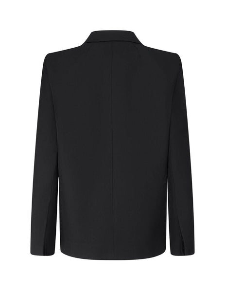 Balenciaga Women's Black Curved Shoulder Jacket 623044TIT171000
