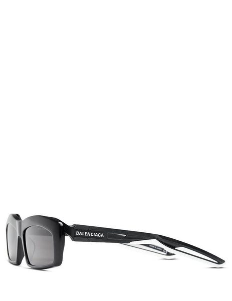 Balenciaga Eyewear Unisex Giulio Fashion Black Hybrid Rectangle Sunglasses BB0026S001