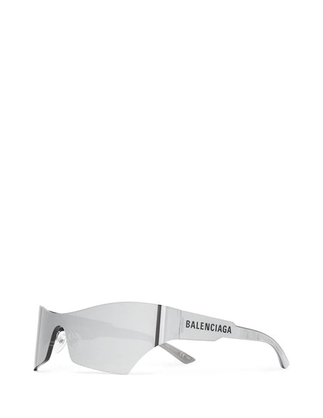 Balenciaga Eyewear Unisex Giulio Fashion Silver Mono Cat Sunglasses BB0040S002