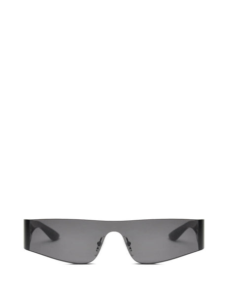 Balenciaga Eyewear Unisex Giulio Fashion Grey Mono Rectangle Sunglasses BB0041S001