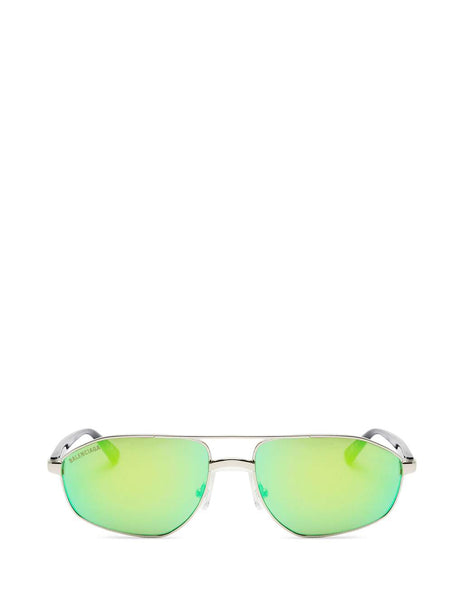 Balenciaga Eyewear Unisex Men's & Women's Black/Green Vintage Aviator Sunglasses BB0012S004