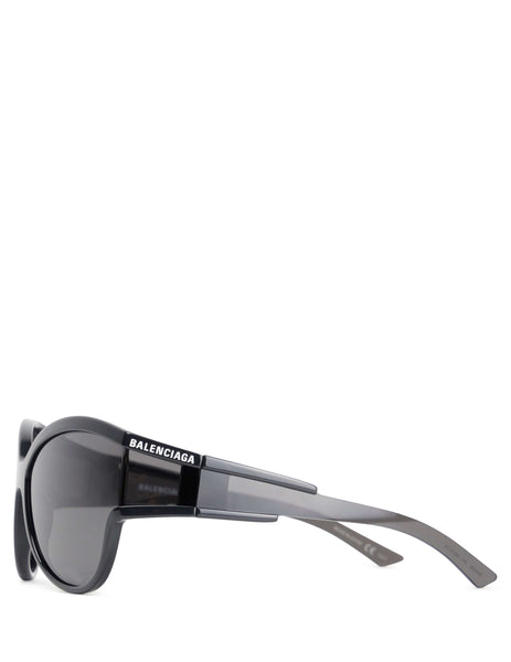 Balenciaga Eyewear Women's Giulio Fashion Black Unlimited Round Sunglasses BB0038S001