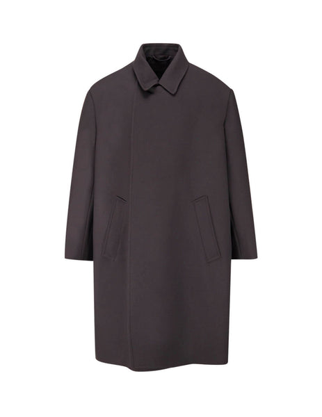Balenciaga Women's Giulio Fashion Ebony Oversized Coat 601081TYI201082