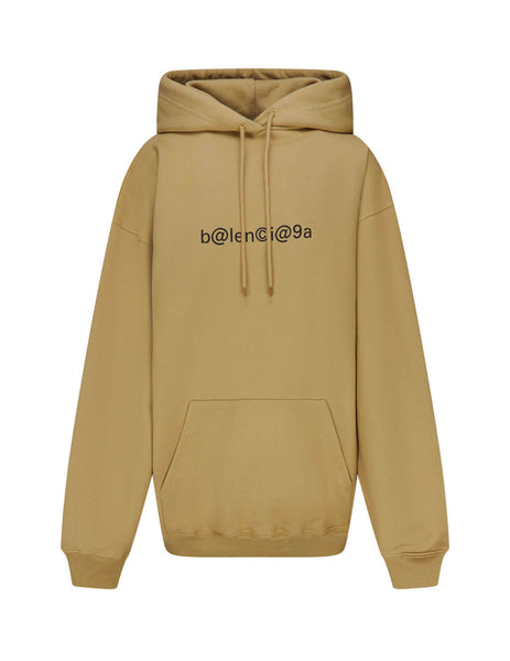 Women's Oat and Black Balenciaga Symbolic Hoodie 578135TIV519605