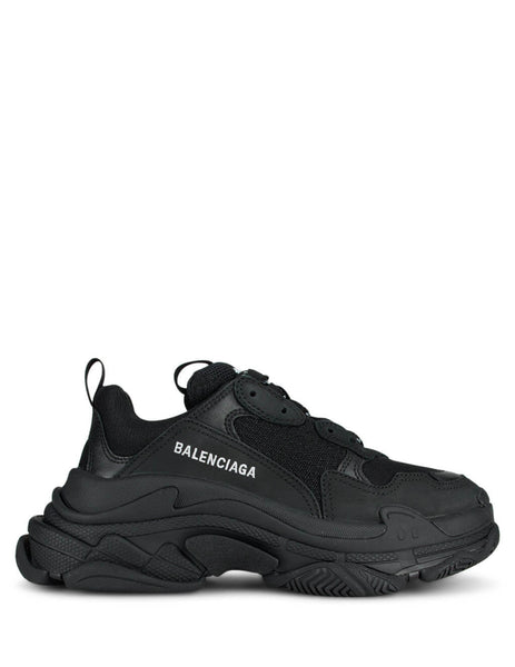 Women's Black Balenciaga Triple S Sneakers 524036W09011000