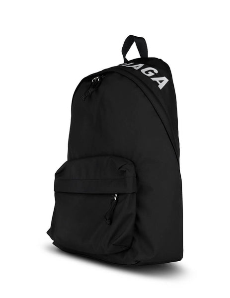 Men's Black Balenciaga Wheel Backpack 507460HPG1X1090