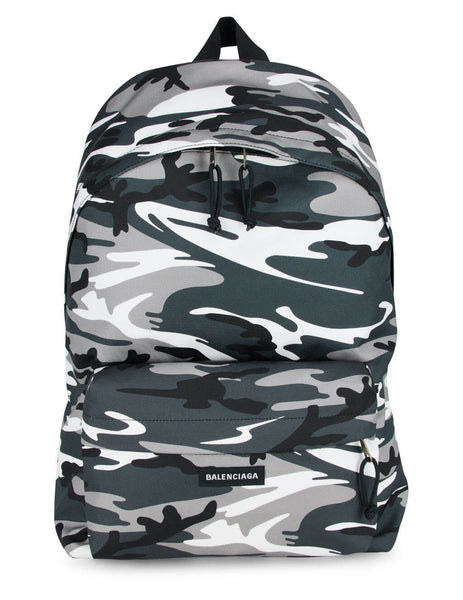 Balenciaga Men's Camo Print Explorer Backpack 5032212BKLX1100