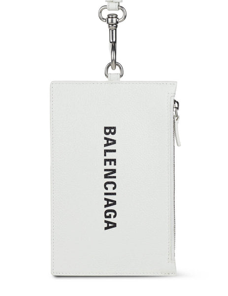 Men's Balenciaga Cash, Passport and Phone Zip Holder in White - 616015IZI39060
