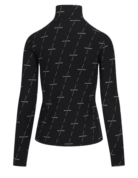Balenciaga Women's Black Diagonal License Jumper 641566TJVC31269