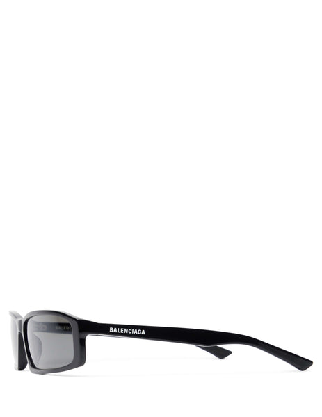 Balenciaga Eyewear Unisex Giulio Fashion Black Neo Square Sunglasses BB0008S001