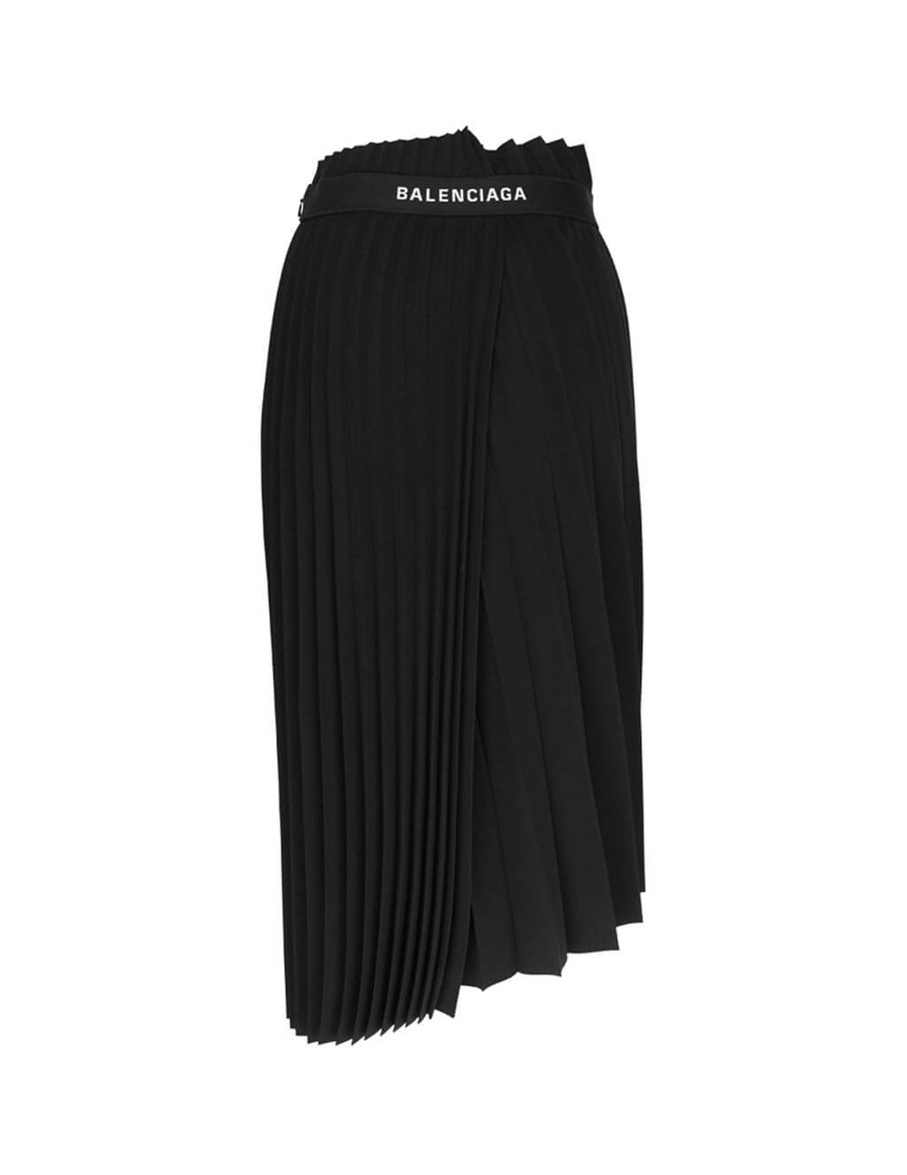 Balenciaga Women's Fiulio Fashion Black Fancy Pleated Skirt 529757TYD151000