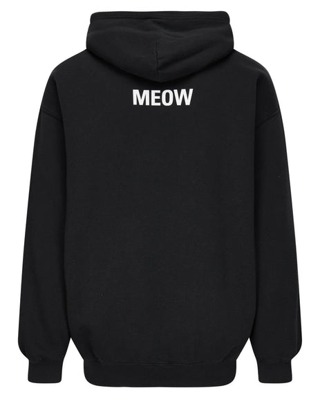 Balenciaga Men's Black I Love Cats Medium Hoodie 570811TJVG91000