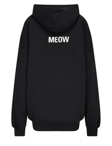 Balenciaga Women's I Love Cats Medium Fit Hoodie 578135TJVG91000