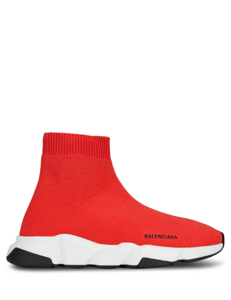 Balenciaga Kids Red & White Speed Trainers 597425W17026561