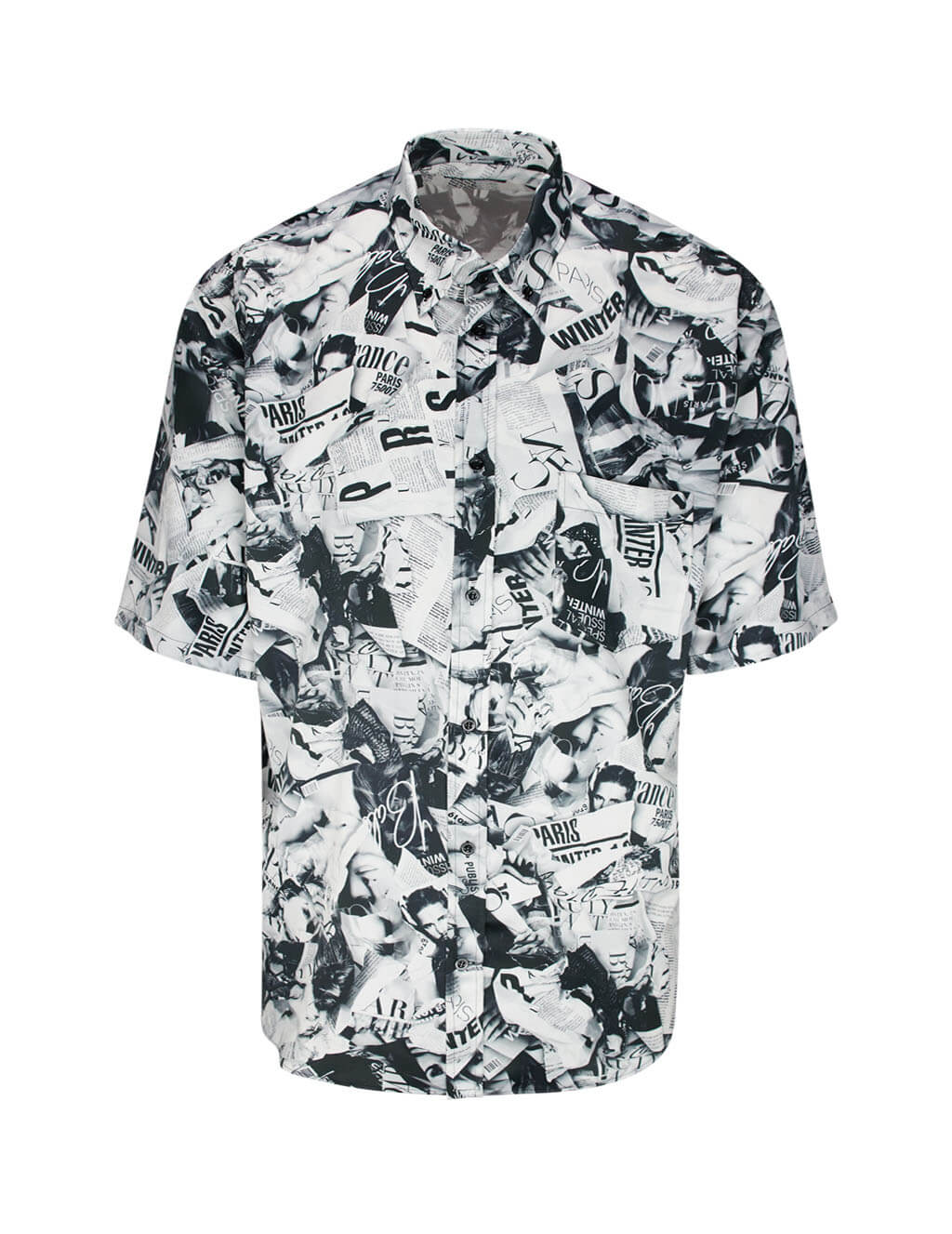 Balenciaga Men's Giulio Fashion Black/White Magazine Shirt 595250TGL231070