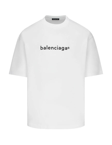 Balenciaga Men's Giulio Fashion White New Copyright T-Shirt 612966TIV549040