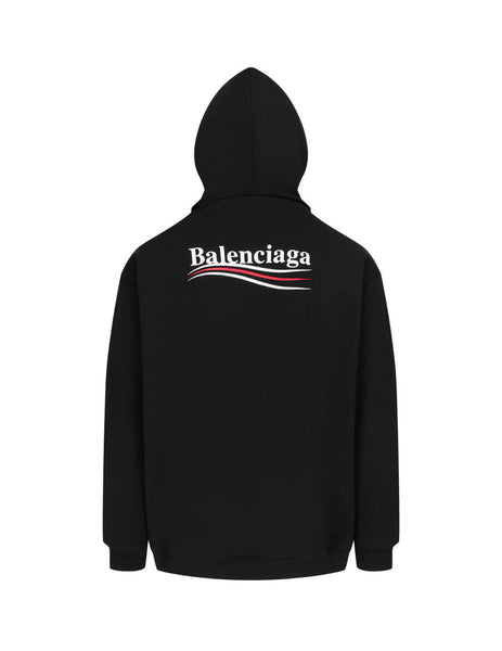 Balenciaga Men's Giulio Fashion Black Political Hoodie 600583TIV531070