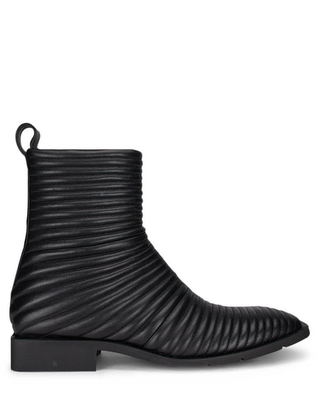 Balenciaga Men's Giulio Fashion Black Ribbed Boots 597156WA9E01000
