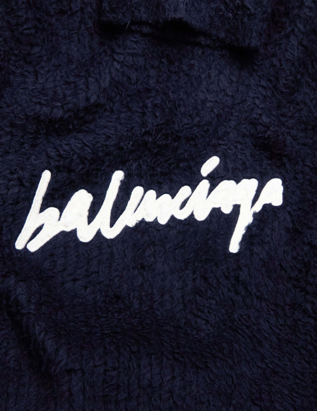 Balenciaga Women's Navy Scribble Knit Jumper 628649T31828065