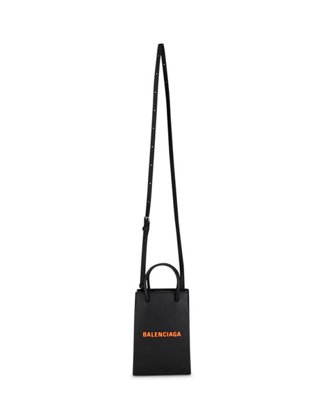Balenciaga Women's Black Shopping Phone Holder 5938260AI5N1075
