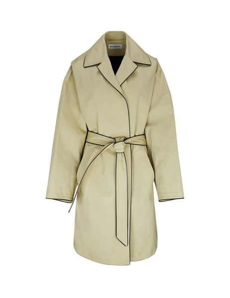Balenciaga Women's Giulio Fashion Creme Short Cocoon Coat 607491TAP019020