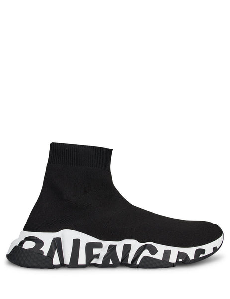 Balenciaga Women's Black Speed Sneakers  605942W05GE1015