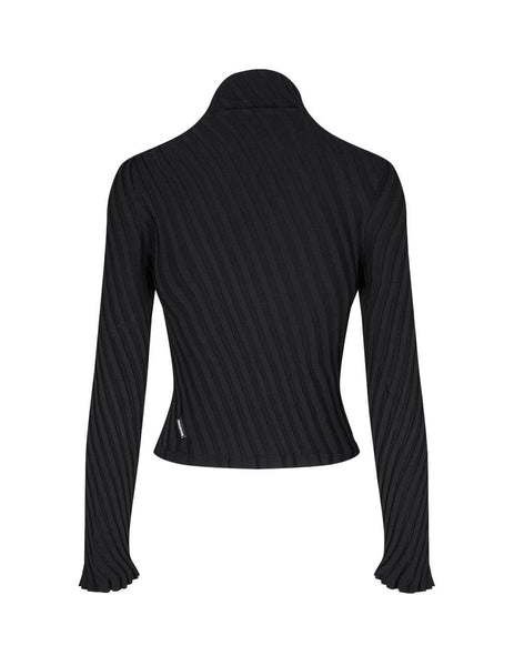 Balenciaga Women's Technical Diagonal Rib Top 626186T51451000